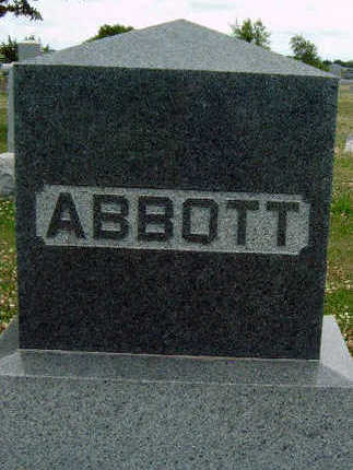 ABBOTT, FAMILY STONE - Madison County, Iowa | FAMILY STONE ABBOTT