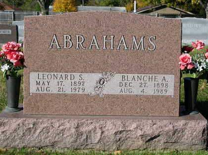 ABRAHAMS, BLANCH ANNE - Madison County, Iowa | BLANCH ANNE ABRAHAMS