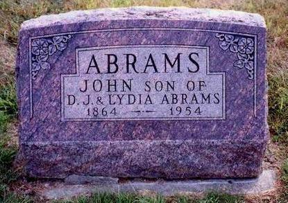 ABRAMS, JOHN L.  - Madison County, Iowa | JOHN L.  ABRAMS