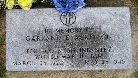 ACKELSON, GARLAND EMORY - Madison County, Iowa | GARLAND EMORY ACKELSON