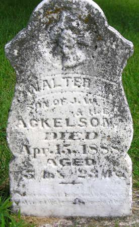 ACKELSON, WALTER RAY - Madison County, Iowa   WALTER RAY ACKELSON