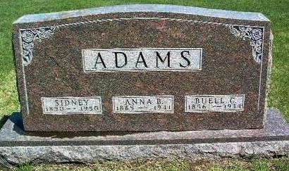 SMITH ADAMS, ANNA BELL - Madison County, Iowa | ANNA BELL SMITH ADAMS