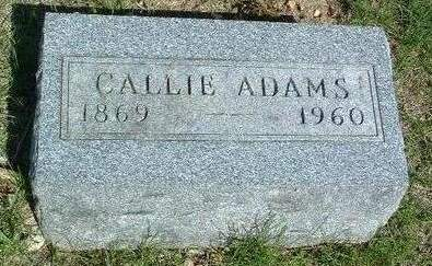 ADAMS, CALLIE BELLE - Madison County, Iowa | CALLIE BELLE ADAMS