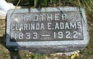 ADAMS, CLARINDA ELIZA - Madison County, Iowa | CLARINDA ELIZA ADAMS