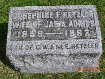 ADKINS, JOSEPHINE FLORENCE - Madison County, Iowa | JOSEPHINE FLORENCE ADKINS