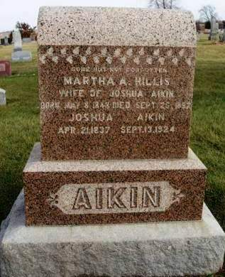 HILLIS AIKIN, MARTHA A - Madison County, Iowa | MARTHA A HILLIS AIKIN