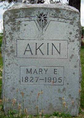 AKIN, MARY ELLEN - Madison County, Iowa | MARY ELLEN AKIN