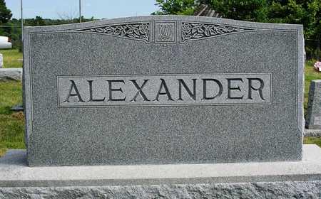 ALEXANDER, FAMILY HEADSTONE - Madison County, Iowa | FAMILY HEADSTONE ALEXANDER