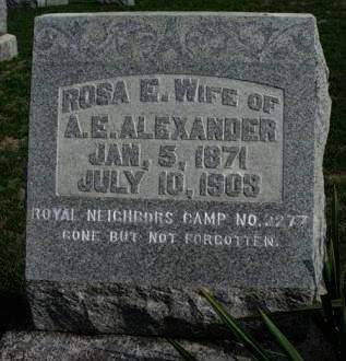 ALEXANDER, ROSA E. - Madison County, Iowa | ROSA E. ALEXANDER