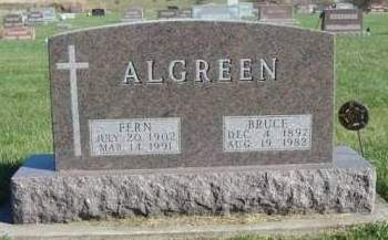 ALGREEN, GERTRUDE FERN - Madison County, Iowa | GERTRUDE FERN ALGREEN