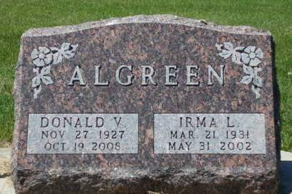 ALGREEN, IRMA LUCILLE - Madison County, Iowa | IRMA LUCILLE ALGREEN