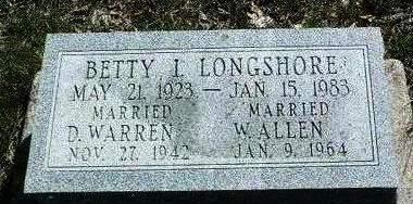 LONGSHORE ALLEN, BETTY IRENE - Madison County, Iowa | BETTY IRENE LONGSHORE ALLEN