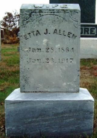 ALLEN, WILMETTA JOSEPHINE (ETTA) - Madison County, Iowa | WILMETTA JOSEPHINE (ETTA) ALLEN