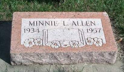 ALLEN, MINNIE L. - Madison County, Iowa | MINNIE L. ALLEN