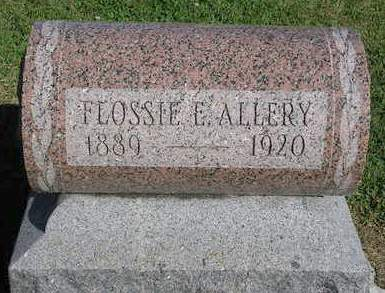 ALLERY, FLOSSIE ETHEL - Madison County, Iowa | FLOSSIE ETHEL ALLERY