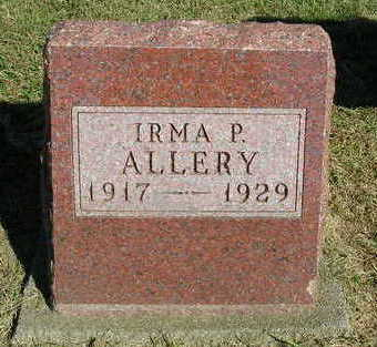 ALLERY, IRMA P. - Madison County, Iowa | IRMA P. ALLERY
