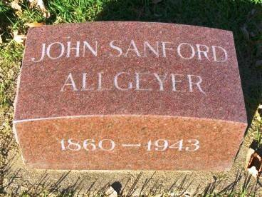 ALLGEYER, JOHN SANFORD - Madison County, Iowa | JOHN SANFORD ALLGEYER