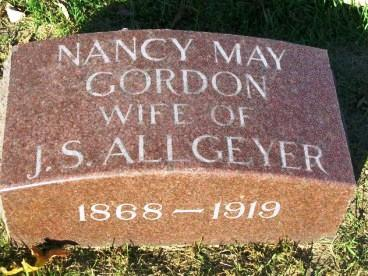 GORDON ALLGEYER, NANCY MAY - Madison County, Iowa | NANCY MAY GORDON ALLGEYER