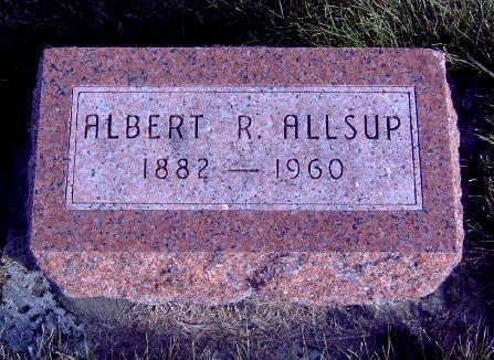 ALLSUP, ALBERT RICHARD - Madison County, Iowa   ALBERT RICHARD ALLSUP