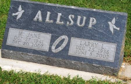 ALLSUP, MARY JANE - Madison County, Iowa | MARY JANE ALLSUP