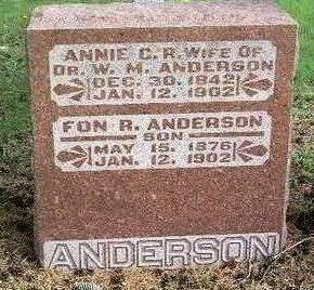 MILLER ANDERSON, ANNIE C. R. - Madison County, Iowa | ANNIE C. R. MILLER ANDERSON