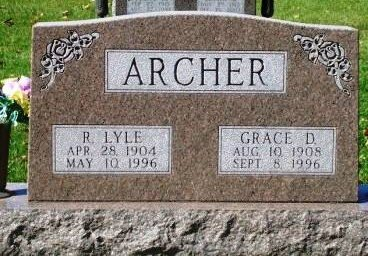 ARCHER, GRACE ETHEL - Madison County, Iowa | GRACE ETHEL ARCHER
