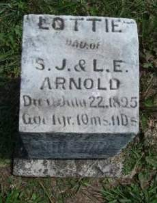 ARNOLD, CHARLOTTA (LOTTIE) - Madison County, Iowa | CHARLOTTA (LOTTIE) ARNOLD