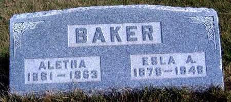 STANLEY BAKER, ALETHA HIATT - Madison County, Iowa | ALETHA HIATT STANLEY BAKER