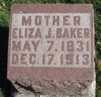 BRANTNER BAKER, ELIZA JANE - Madison County, Iowa | ELIZA JANE BRANTNER BAKER