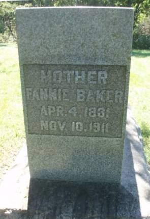 BAKER, FANNIE - Madison County, Iowa | FANNIE BAKER