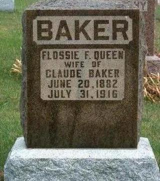 QUEEN BAKER, FLOSSIE F. - Madison County, Iowa | FLOSSIE F. QUEEN BAKER