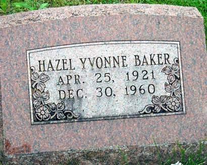BAKER, HAZEL YVONNE - Madison County, Iowa | HAZEL YVONNE BAKER