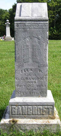 DICKENS BANCROFT, MARY ELLEN (ELLA) - Madison County, Iowa | MARY ELLEN (ELLA) DICKENS BANCROFT