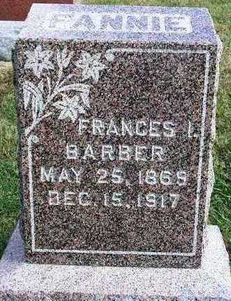 BARBER, FRANCES ISABEL (FANNIE) - Madison County, Iowa | FRANCES ISABEL (FANNIE) BARBER