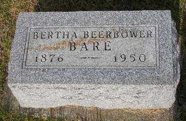 BARE, BERTHA BEATRICE - Madison County, Iowa | BERTHA BEATRICE BARE