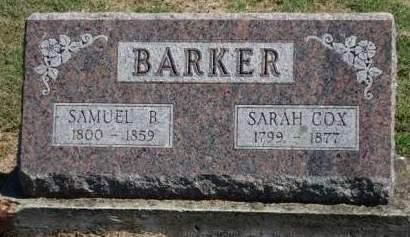 BARKER, SAMUEL B. - Madison County, Iowa | SAMUEL B. BARKER