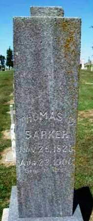 BARKER, THOMAS COX - Madison County, Iowa | THOMAS COX BARKER