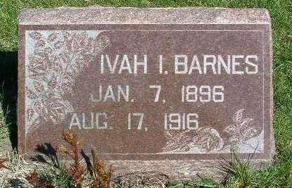 BARNES, IVAH I. - Madison County, Iowa | IVAH I. BARNES