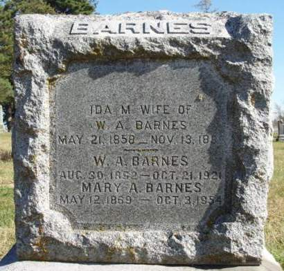 BARNES, IDA M. - Madison County, Iowa | IDA M. BARNES