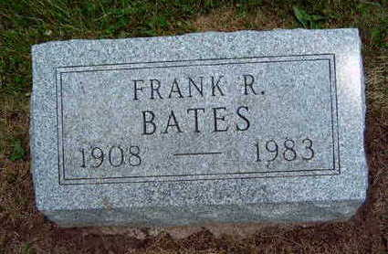 BATES, FRANK ROLLAND - Madison County, Iowa | FRANK ROLLAND BATES