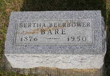 BEERBOWER BARE, BERTHA BEATRICE - Madison County, Iowa | BERTHA BEATRICE BEERBOWER BARE