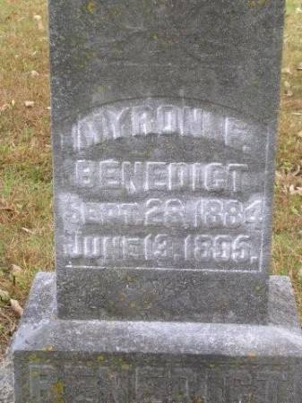 BENEDICT, MYRON F. - Madison County, Iowa | MYRON F. BENEDICT