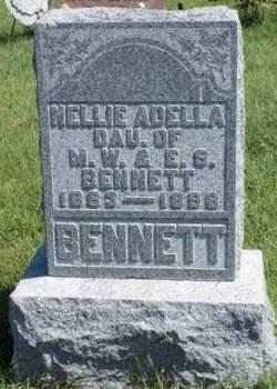 BENNETT, NELLIE ADELLA - Madison County, Iowa   NELLIE ADELLA BENNETT