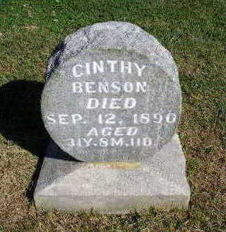 BENSON, CINTHY - Madison County, Iowa | CINTHY BENSON