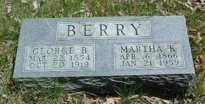 KINGERY BERRY, MARTHA K. - Madison County, Iowa | MARTHA K. KINGERY BERRY