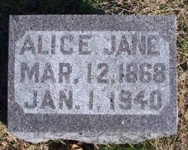 BISHOP, ALICE JANE - Madison County, Iowa | ALICE JANE BISHOP
