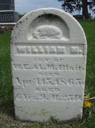 BLAIR, WILLIAM M. - Madison County, Iowa | WILLIAM M. BLAIR