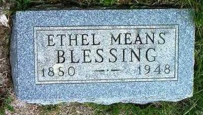 MEANS BLESSING, ETHEL EVELYN - Madison County, Iowa | ETHEL EVELYN MEANS BLESSING