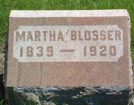 GAMBLE BLOSSER, MARTHA - Madison County, Iowa | MARTHA GAMBLE BLOSSER
