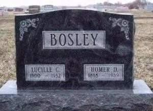 BOSLEY, LUCILLE CORA (LUCY) - Madison County, Iowa | LUCILLE CORA (LUCY) BOSLEY